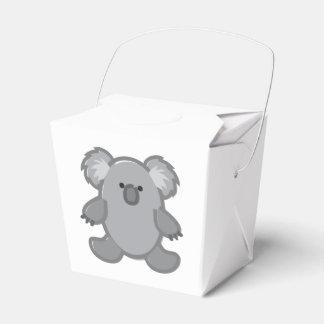 Funny Koala on White Favour Box