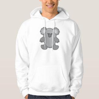 Funny Koala on White Hoodie