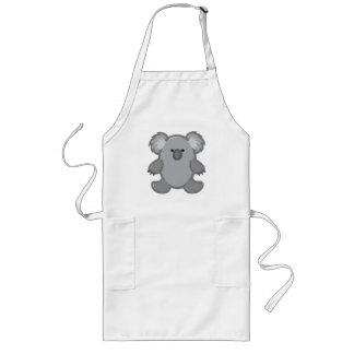Funny Koala on White Long Apron