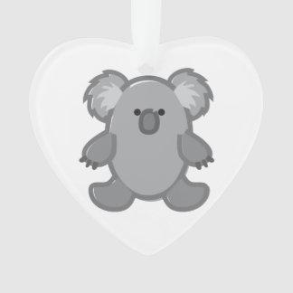 Funny Koala on White Ornament