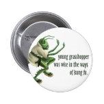 Funny Kung Fu Grasshopper 6 Cm Round Badge