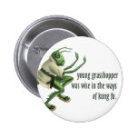 Funny Kung Fu Grasshopper Buttons