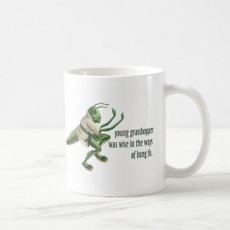 Funny Kung Fu Grasshopper Basic White Mug