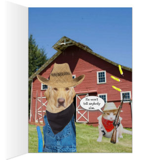 Funny Lab Farmer Birthday Card