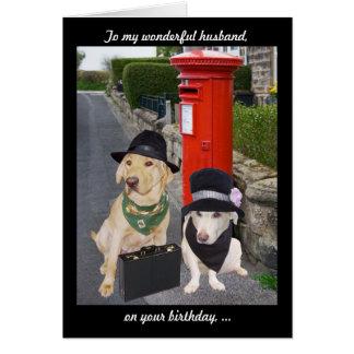 Funny Lab Husband Birthday Greeting Card