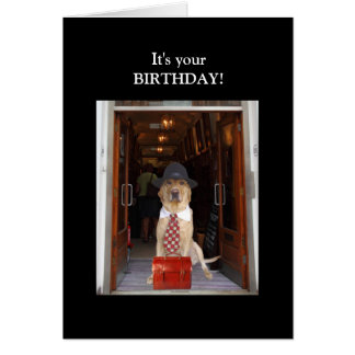 Funny Lab Male Birthday Note Card
