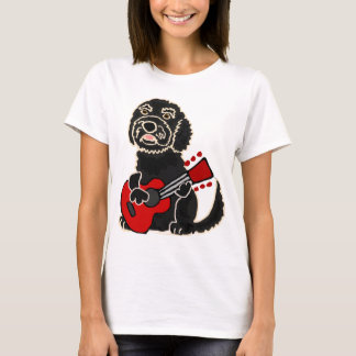 Funny Labradoodle Playing Guitar T-Shirt