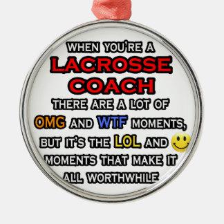 Funny Lacrosse Coach ... OMG WTF LOL Christmas Tree Ornament