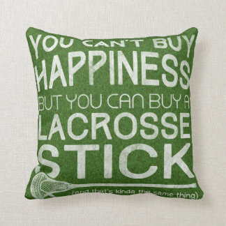 Funny Lacrosse Design Throw Pillows