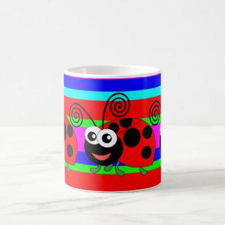 Funny Ladybird,ladybug Basic White Mug