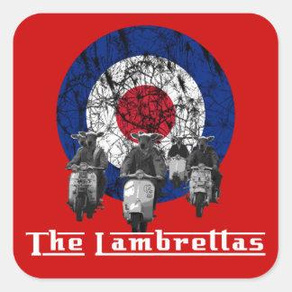 Funny lambretta square sticker