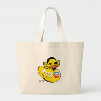 Funny Lame Duck Potus Obama Gear Large Tote Bag