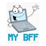 funny laptop my bff cartoon custom flyer