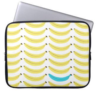 Funny Laptop Sleeve - Banana Print - Blue/Yellow