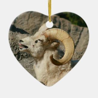 Funny Laughing Bighorn Sheep Christmas Ornament
