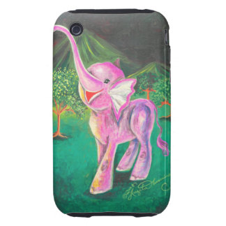 Funny Laughing Elephant Baby iPhone 3 Tough Cases
