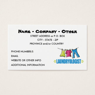 Funny Laundry Business Card