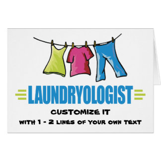 Funny Laundry Note Card