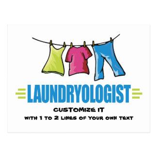Funny Laundry Postcard