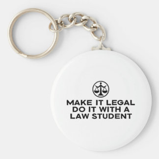 Funny Law Student Key Ring