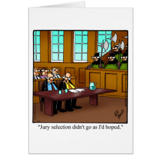 Funny Lawyer Humor Blank Greeting Card