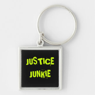 Funny Lawyer Nickname - Justice Junkie Key Ring