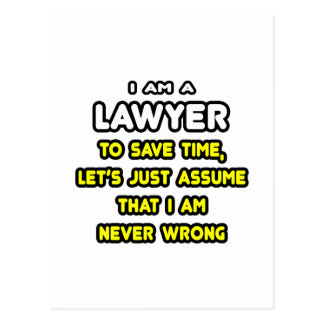 Funny Lawyer T-Shirts and Gifts Postcard