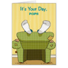 Funny Lazy Happy Father's Day Greeting Card