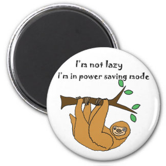 Funny Lazy Sloth Cartoon 6 Cm Round Magnet
