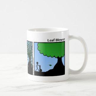Funny Leaf Blower Stickman Mug - 068