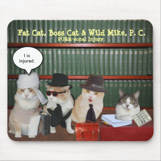 Funny Legal Cats Mouse Mat
