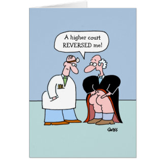 Funny Legal Profession Get Well Greeting Card