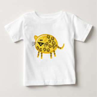 Funny Leopard on White Baby T-Shirt