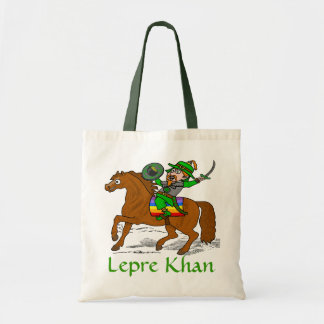 Funny Lepre Khan St Patrick's Day Budget Tote Bag