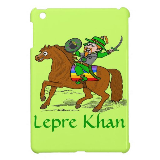 Funny Lepre Khan St Patrick's Day Case For The iPad Mini