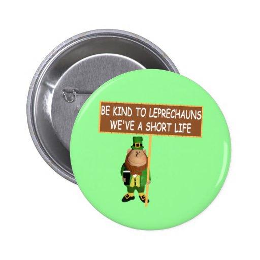Funny Leprechaun 6 Cm Round Badge