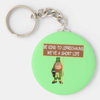 Funny Leprechaun Basic Round Button Key Ring