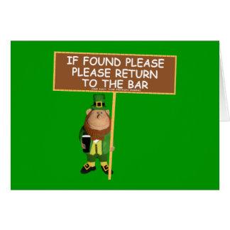 Funny leprechaun card
