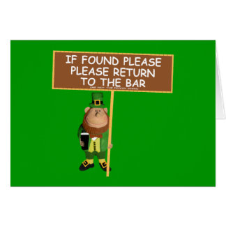 Funny leprechaun greeting card