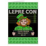 Funny Leprechaun Leprecon Mugshot Greeting Card