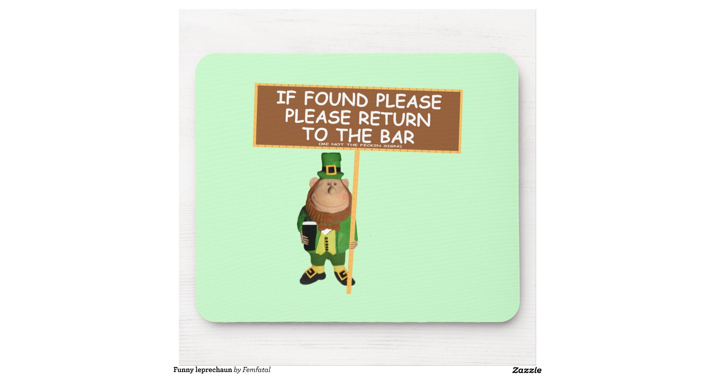 Funny leprechaun mouse pad | Zazzle