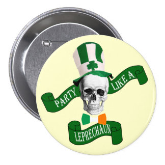 Funny leprechaun St Patrick s day Buttons