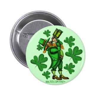 Funny leprechaun St Patrick s day button design