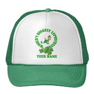 Funny leprechaun St Patrick s day Mesh Hats