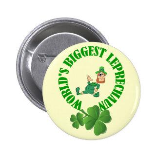 Funny leprechaun  St Patrick's day 6 Cm Round Badge