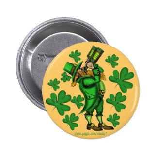 Funny leprechaun St. Patrick's day button