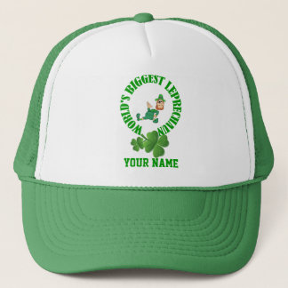 Funny  leprechaun  St Patrick's day Trucker Hat