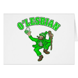 Funny Lesbian St Patrick s Day Gift Cards