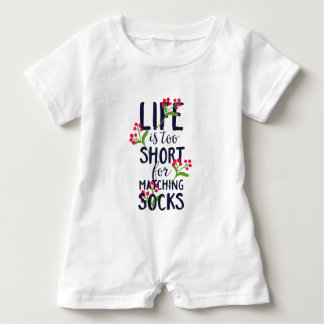 Funny Life is Too Short for Matching Socks Baby Bodysuit