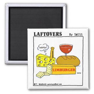 Funny Limburger Cheese Laftovers Cartoon Magnet